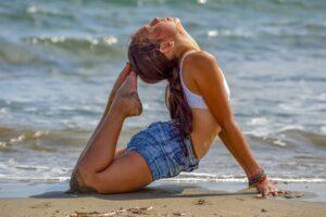 girl, teen, beach